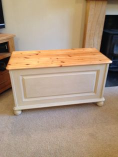 Would Make A Lovely Coffee Table Chests & Trunks Beautiful Antique Victorian Pine Bedding Box