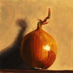 """Daily Paintworks - """"Standing Onion"""" - Original Fine Art for Sale - © Peter J Sandford"""