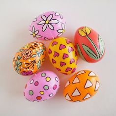 Painted Plastic Eggs