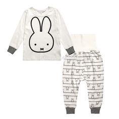 60b8baa656 baby boys girl Pajamas Suit Sleepwear Baby Boys Clothing cute T-Shirts Kids  Pyjamas Home