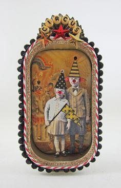 Billy and Tess at the Circus: altered sardine tin (KBatsel)