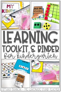 Looking for learning toolkits for kindergarten? These are PERFECT to send home to use for distance learning AND to use while social distancing in the classroom. Click the pin to see all the resources included and how to use them well!