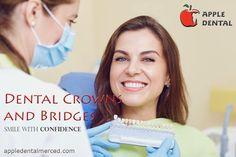 Are you looking for crowns and bridges in Merced? Apple Dental offers dental crowns and bridges at low cost in Merced, CA. Providing smile makeovers, dental implants, cosmetic dentistry and more. Teeth Whitening Cost, Wisdom Teeth Removal, Affordable Dental, Teeth Straightening, Front Teeth, Dental Bridge, Dental Crowns, Root Canal, Cosmetic Dentistry