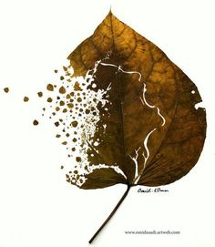 UK-based artist Omid Asadi create beautiful art from leaves, he turns fallen leaves into beautiful piece of art work using fallen leaves, craft knife and needle. Chef D Oeuvre, Oeuvre D'art, Dry Leaf Art, Leave Art, Art Fantaisiste, Foto Art, Autumn Leaves, Fallen Leaves, Autumn Art
