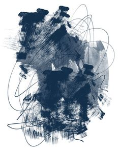 Blue Abstract Art Blue Abstract Painting by InspirationAbstracts