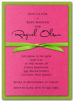 wedding invitation samples pink and green - Google Search