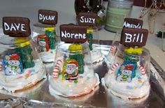 Feature Friday- Edible Snowglobe Place Settings   Suzy's Artsy Craftsy Sitcom