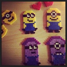 Despicable Me Minions hama beads by najatrunte