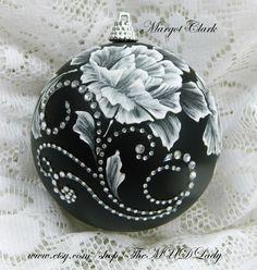 White MUD Roses, rhinestone bling #35 SOLD!