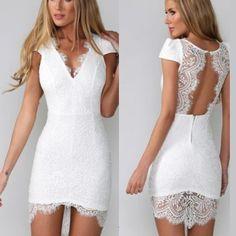 Style: Sexy Couleur: Blanc Matériel: Polyester Taille:S/M/L/XL S : Tour de poitrine : 84cm(33.07