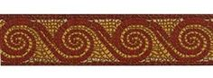 """1 1/2"""" Red & Gold Roman Wave Trim.  Great for Togas, Summer Handbags, Guitar Straps and other crafty projects :)"""