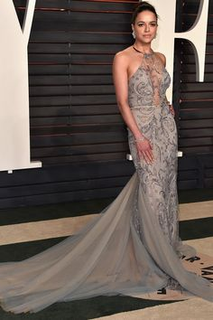 Michelle Rodriguez Just Wore the Classiest Naked Dress You've Ever Seen
