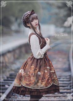 ---#LolitaUpdate: Avenue Denfer -Steam Castle- Lolita JSK ---Shop it here >>> http://www.my-lolita-dress.com/avenue-denfer-steam-castle-steampunk-style-lolita-jumper-dress-ad-9