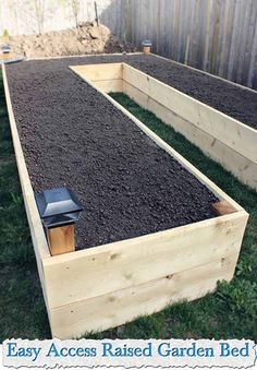Easy Access Raised Garden Bed