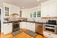 White kitchen and backsplash.