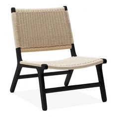 In black ash wood, this natural woven chair offers mid-century style for your conservatory or balcony. Stylish Chairs, Modern Chairs, Modern Furniture, Furniture Design, Outdoor Furniture, Adirondack Chair Cushions, Outdoor Lounge Chair Cushions, Outdoor Chairs, Mid Century Style