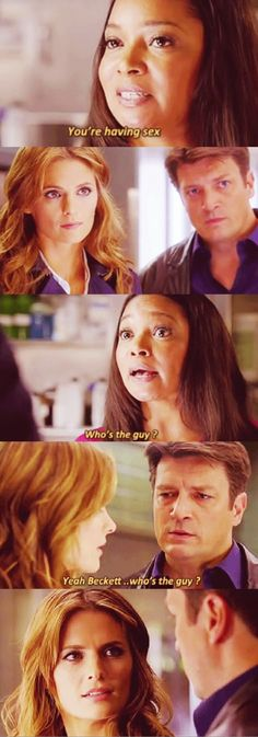 Okay let's talk about this one...the second box - the relations of these two. And then the way Castle responds!!