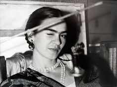Lucienne Bloch - Frida Winking   From a unique collection of photography at http://www.1stdibs.com/art/photography/