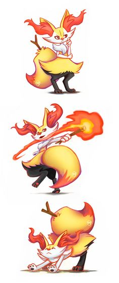 Braixen by raposavyk on DeviantArt