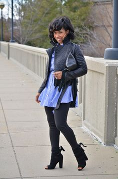 Sweenee Style, Moto Jacket, Button Up, Button Down, OUTFIT, OUTFIT POST, Winter 2016, Winter Outfit Idea