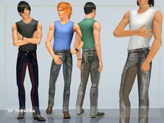 Sims 3 Pants http://www.thesimsresource.com/downloads/details/category/sims3-clothing-male/title/jeans-street-fashion-male/id/1152327/