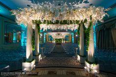 glamorous jewish wedding ceremony decor at the pierre in new york city