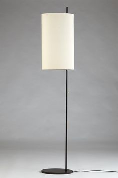 Arne Jacobsen; Enameled Metal 'Royal' Floor Lamp for Louis Poulsen, 1956.