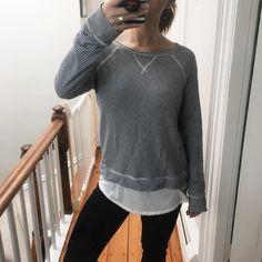 Stitch Fix Winter 2017 Soft Joie Sweatshirt Morelle Double Layer Knit Top
