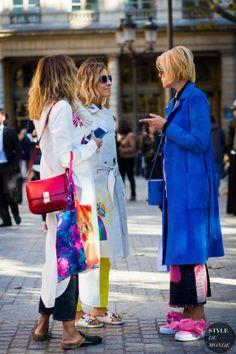 Elisa Nalin and Mira Mikati Street Style Street Fashion Streetsnaps by STYLEDUMONDE Street Style Fashion Photography