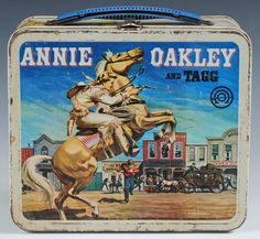 1955 Vintage Annie Oakley and Tagg Lunchbox with Thermos Aladdin Delira School Lunch Box, School Days, Vintage Toys, Retro Vintage, Boxer Rebellion, Vintage Lunch Boxes, Annie Oakley, Metal Lunch Box, Lunch Time