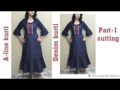 Denim Kurti Designs, Short Kurti Designs, Design Youtube, A Line Kurti, Sewing Tutorials, Sewing Crafts, Dress Sewing Patterns, Kurtis, Pants For Women