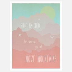 Move Mountains Print Pink now featured on Fab. Love this