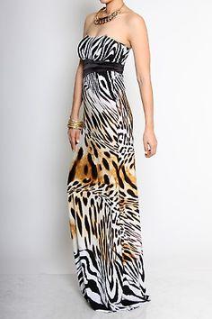 29efa802c1a Banded waist strapless animal print maxi dress  bestseller  springfashion   divasegoboutique www.divasego.com. Diva s Ego