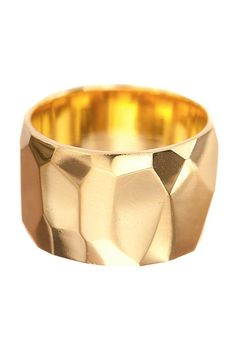 Ariel Gordon Jewelry Faceted Cigar Band Ring at ShopGoldyn.com