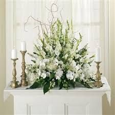 Image result for church urn flowers spring