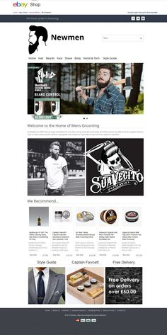 The home of mens grooming, skincare and bodycare products in online for their #Newmen with custom #eBayStoreDesign!...  Just delivered: http://stores.ebay.co.uk/newmenofficial