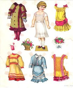 The Paper Collector: Paper doll c. 1880s