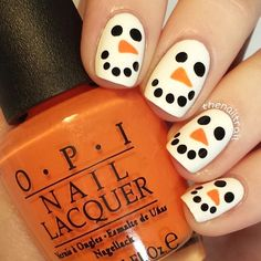 Instagram photo by thenailtrail #nail #nails #nailart would be cuter to do with pumpkins at halloween