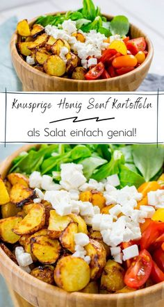 yummy food Geniales Rezept fr Honig Senf Rstkartoffeln als leckerer Salat mit Feta Honey Mustard Recipes, Feta Salat, Salat Bowl, Couscous Salat, Vegetarian Recipes, Healthy Recipes, Beef Recipes, Chicken Recipes, Healthy Food