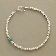 Best Bracelet Perles 2017/ 2018 : Turquoise and sterling silver bracelet...