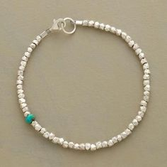 Best Bracelet Perles 2017/ 2018 : Turquoise and sterling silver bracelet...