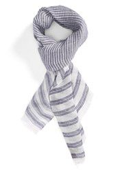 Canali Stripe Linen Scarf available at Striped Linen, Hats For Men, Vintage Inspired, Scarves, Nordstrom, Pattern, Gloves, Shopping, Blue