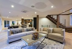 Space Harmony Living Room Design - West Vancouver Residence