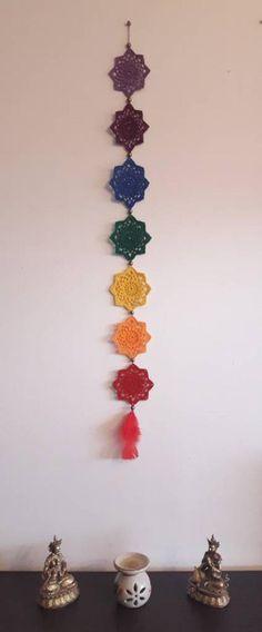 17 ideas crochet mandala wall hanging etsy for 2019 Bohemian Crafts, Crochet Scarf Easy, Mercerized Cotton Yarn, Crochet Wall Hangings, Boho Wall Hanging, Rainbow Wall, Crochet Mandala, Crochet Crafts, Crochet Patterns