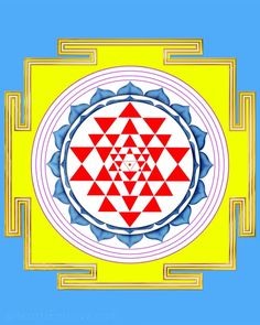 Shree Yantra, Sacred Geometry in the form of this ancient mandala Chakra Meanings, Sri Yantra, Symbols Of Strength, Meditation Techniques, Chicago Cubs Logo, Ancient Art, Sacred Geometry, Deities, Buddhism