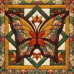"Fall Butterfly Quilt Magic Kit 12""X12"" 724180008426"