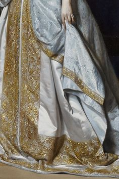Portrait of a Lady by Gabriel Metsu, 1667 (detail)  Colors and brightness of clothing.