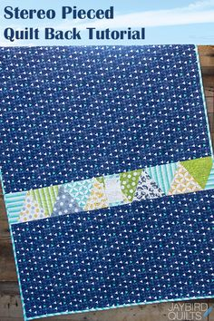 While developing the Stereo quilt pattern, I discovered that you would have some extra triangles....