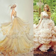 Sketch by Christian Siriano: one of our gowns from 2011 that Taylor Swift wore in her Wonderstruck fragrance ad. Couture Fashion, Fashion Art, Fashion Beauty, Vintage Fashion, Fashion Design, Fashion Illustration Sketches, Fashion Sketches, Taylor Swift, Fashion Project