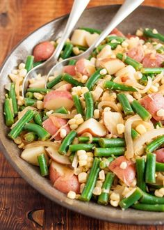 Recipe: Potatoes, Green Beans, and Corn with Lemon-Brown Butter Dressing